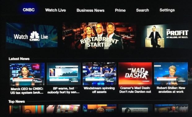 cnbc apple tv 620x379 Negli Stati Uniti, la Apple TV è stata da poco aggiornata con nuovi canali e contenuti