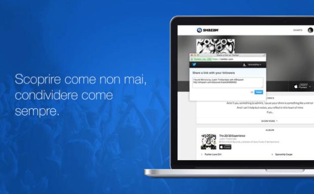 shazampermac 620x384 Shazam sbarca nel Mac App Store, ed è possibile scaricarla gratuitamente