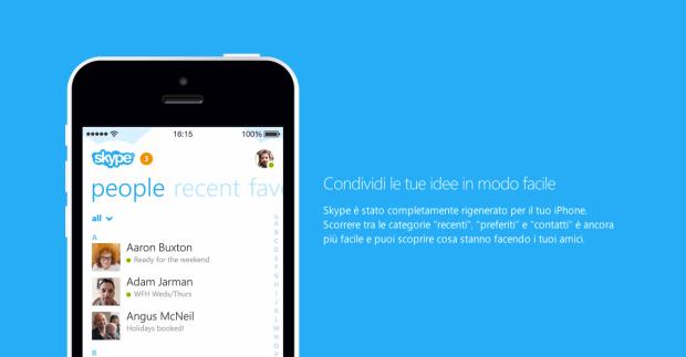 skypeiphone 620x323 Skype annuncia che presto le videochiamate di gruppo saranno disponibili per iOS