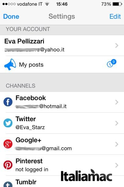 EveryPost1 620x930 EveryPost: unapp per pubblicare contenuti su tutti i profili social in un colpo solo!