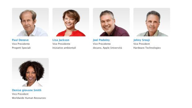 appledirigenti 620x348 Apple aggiorna la pagina della leadership aggiungendo due donne portando a cinque i vice presidenti