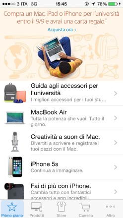 applestore2 620x1100 Apple regala Bicolor e Tydlig tramite l'App Apple Store