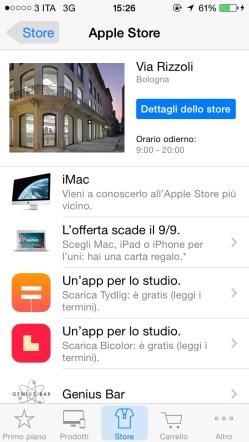 applestore6 620x1100 Apple regala Bicolor e Tydlig tramite l'App Apple Store