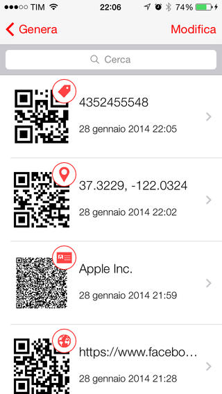 iqrcode1 iQR Codes unApp completa per creare, gestire e scannerizzare i QR Code