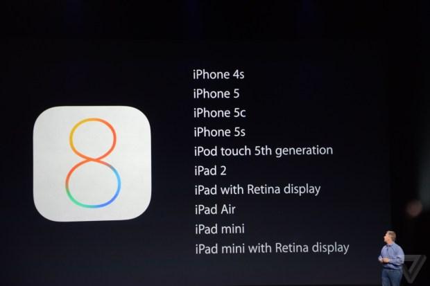 ios8device 620x413 iOS 8 sarà disponibile dal 17 settembre