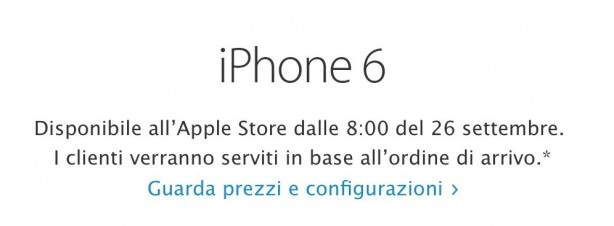 iphone 6 italia 614x226 iPhone 6 e iPhone 6 Plus: svelati i prezzi e la data di lancio in italia