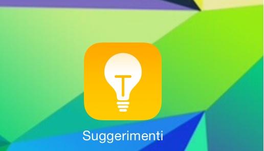 """suggerimenti """"Suggerimenti"""", la nuova App integrata in iOS 8"""