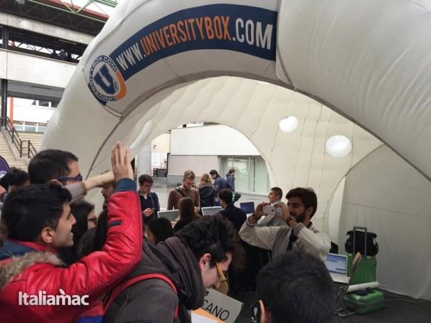 University Box Tucano politecnico bari 20 620x465 Foto: Italiamac partecipa al Tour University Box di Tucano