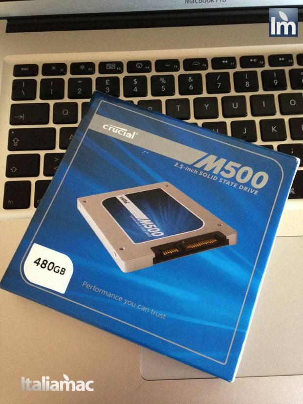 02 Crucial SSD M500 480GB 620x826 Gallery: Montaggio SSD Crucial M500 da 480 GB su MacBook Pro 17