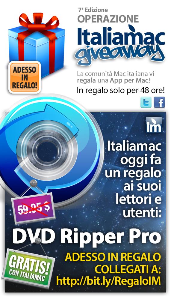 macx dvdrippe adesso Italiamac ti regala una app per Mac, hai tempo solo fino al 1° dicembre