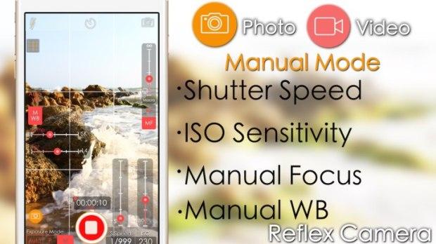 reflexcamera1 620x348 Reflex Camera, l'app iOS per foto e video con gestione manuale di ISO