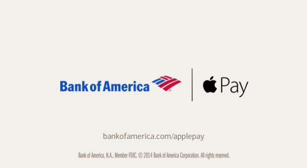 ApplePay 620x339 [Video] Bank Of America, in un nuovo spot per effettuare i pagamenti con Apple Pay