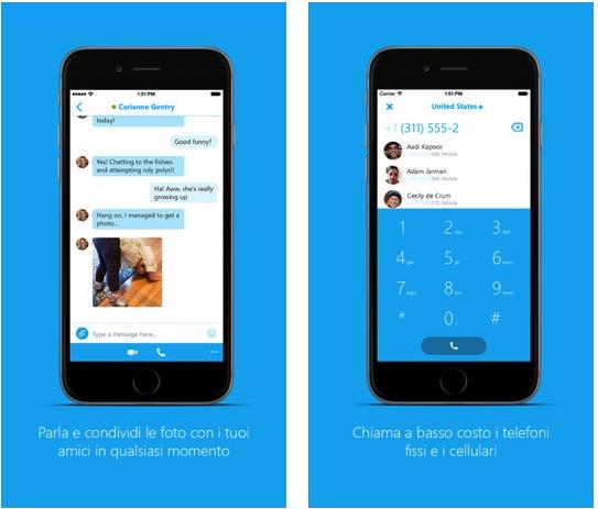 Skype5.9 Skype per iPhone si aggiorna con miglioramenti nellinterfaccia utente
