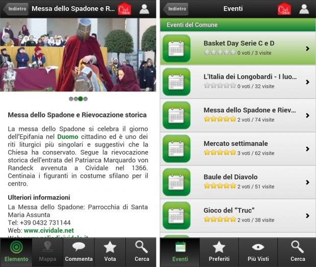 cividale app 02 620x523 La app di Cividale del Friuli per smartphone Apple e Android