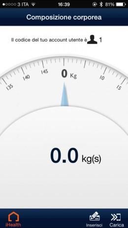 iHealthApp2 620x1102 iHealth Wireless Body Analysis Scale, bilancia smart per tutti