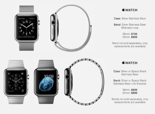 apple watch prezzi 620x459 Prezzi Apple Watch, una fonte potrebbe averli scoperti. Leggi il listino.