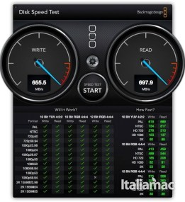 speedtestdrivemini1 278x300 Drive Station Mini di Buffalo: ottime prestazioni in poco spazio