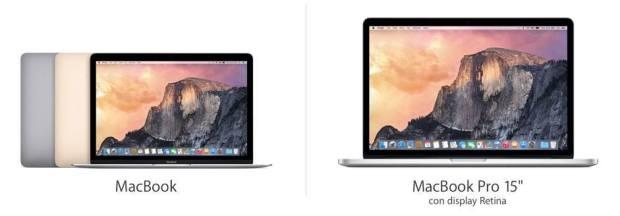 confronto nuovo macbook macbook pro retina 01 620x216 Confrontiamo le caratteristiche del nuovo MacBook con il MacBook Pro 15″ Retina