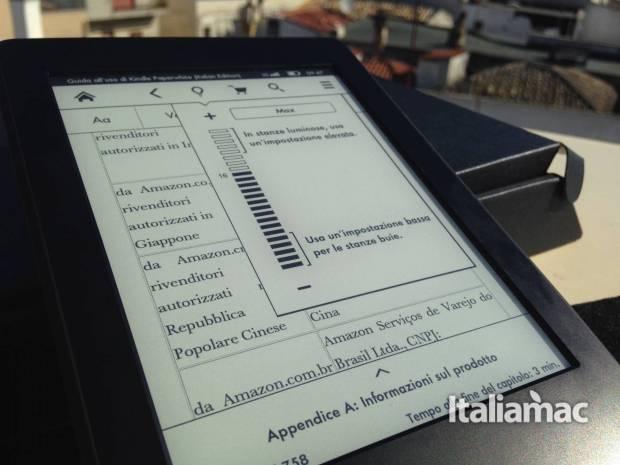 kindle paperwhite frontlight 620x465 Kindle Paperwhite 3G, la mia prova dell eReader Amazon