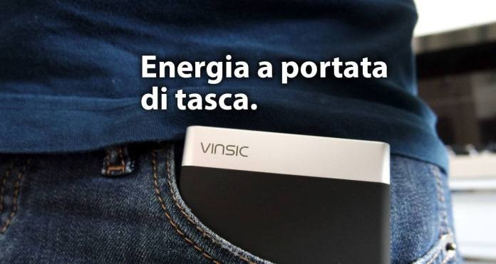 vinsic power bank Vinsic Power Bank, batteria da 5.000 mAh ultra slim