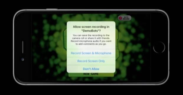 ios 9 screen recording replaykit 620x322 Il ReplayKit permetterà di registrare lo schermo di iPhone in iOS 9