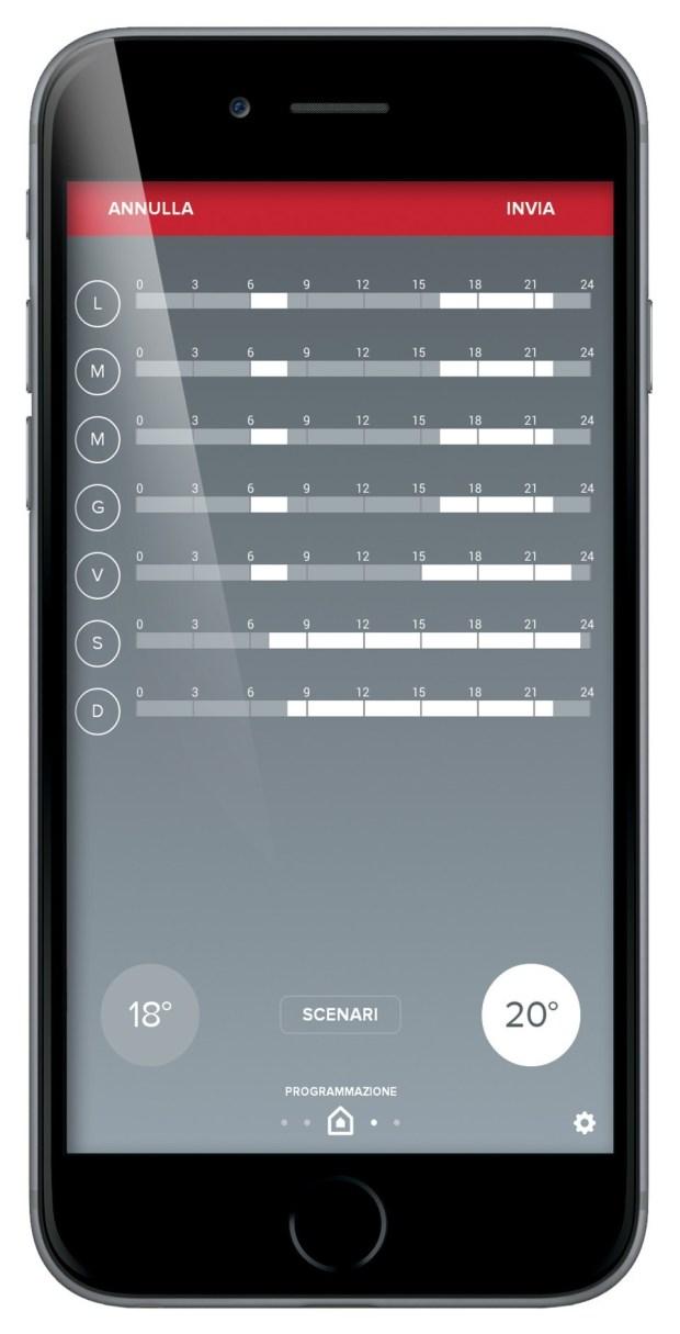 programmazione settimanale 620x1215 Con Ariston NET l'impianto di riscaldamento è a portata di smartphone