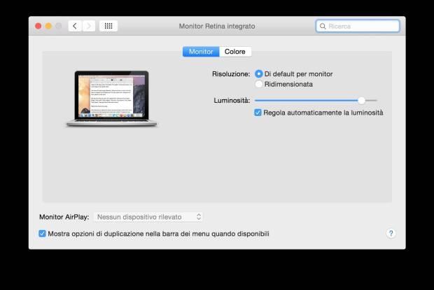 schermata 2015 08 30 alle 18.51.22 620x415 Come mostrare tutte le possibili risoluzioni per un Display su Mac OS X