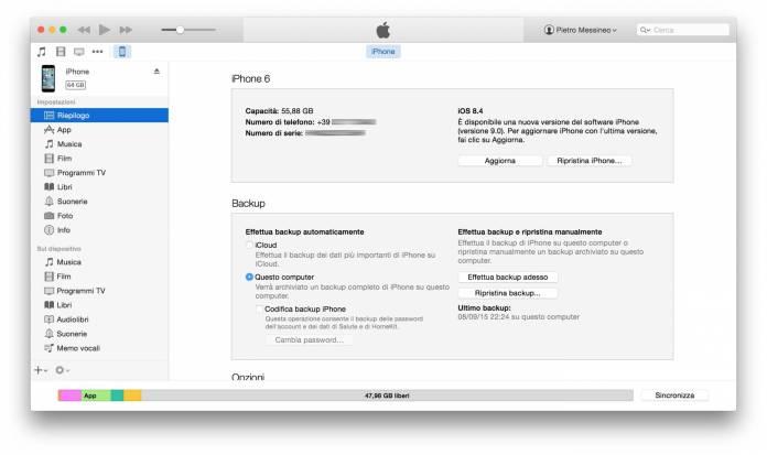 schermata 2015 09 21 alle 13.21.59 Guida al downgrade da iOS 9 ad iOS 8.4.1