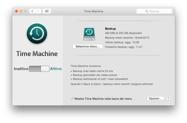 screenshot 2015 09 30 10.50.36 620x408 Come effettuare un backup con Time Machine