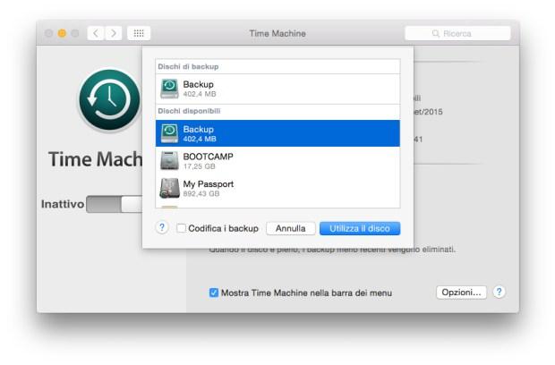 screenshot 2015 09 30 11.11.34 620x408 Come effettuare un backup con Time Machine