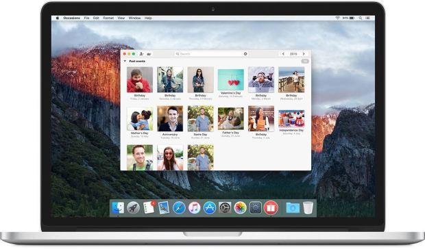 1 occasions mbp 620x364 Occasions, app per gestire eventi e regali su Mac