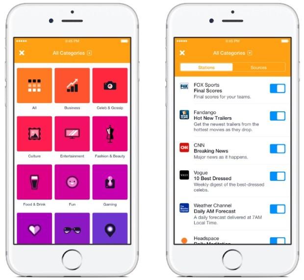 notiffy for ios iphone screenshot 001 620x571 Facebook rilascia Notify per iPhone, un servizio di news, sport e molto altro