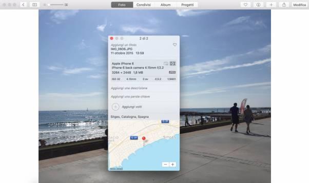 schermata 2015 11 07 alle 10.16.46 Come aggiungere la posizione in unimmagine su Foto per Mac