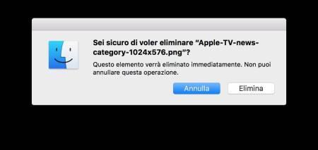 Eliminazione File OS X Tastiera