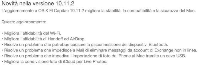 schermata 2015 12 08 alle 19.07.42 Apple rilascia OS X 10.11.2 El Capitan