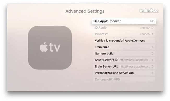 Advanced Settings Apple TV 4