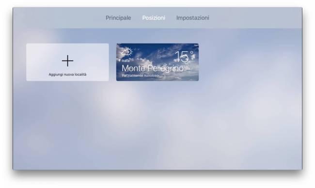Meteo Live Posizioni Apple TV