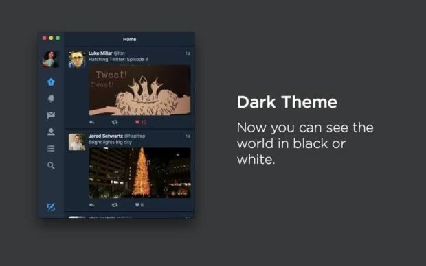 Twitter Mac 4.0 Dark Theme