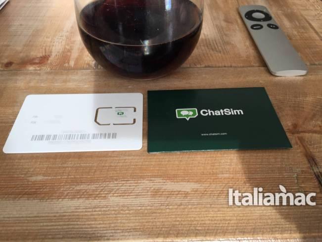 chatsim italiamac ChatSim: La SIM per scambiare messaggi di testo e multimediali in tutto il mondo