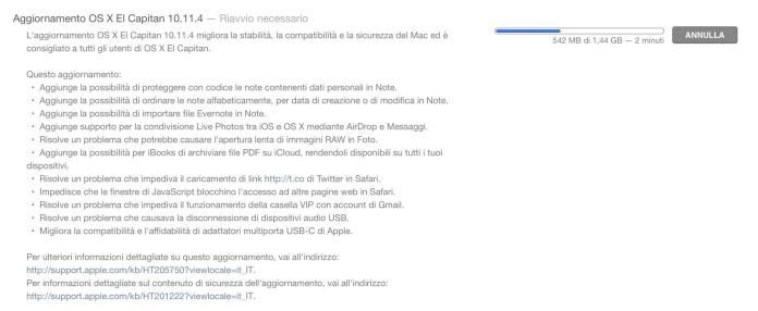 OS X 10.11.4 changelog
