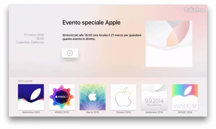 app apple events Apple rilascia lapp Apple Events per guardare in diretta levento da Apple TV 4