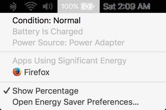 OS X MacBook batteria