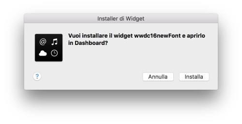 installazione widget wwdc Disponibile il widget per il countdown del WWDC 2016 per Mac