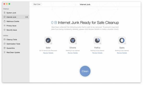 internet junk macclean MacClean: Tieni pulito il tuo Mac con il tool 7 in 1