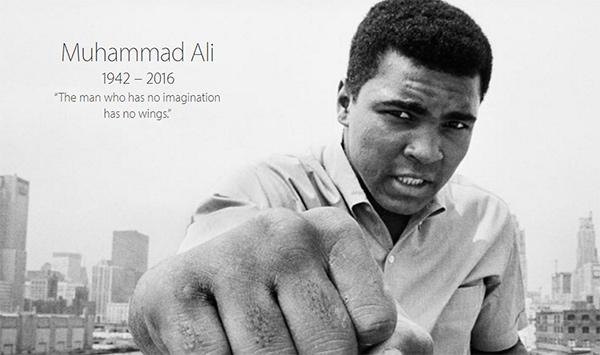 muhammad ali Apple rende omaggio a Muhammad Ali