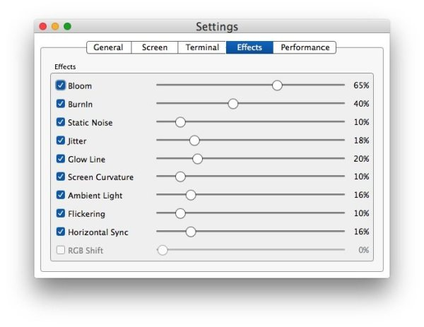 retro terminal mac screenshots 10 Terminale Vintage per Mac con Cool Retro Term