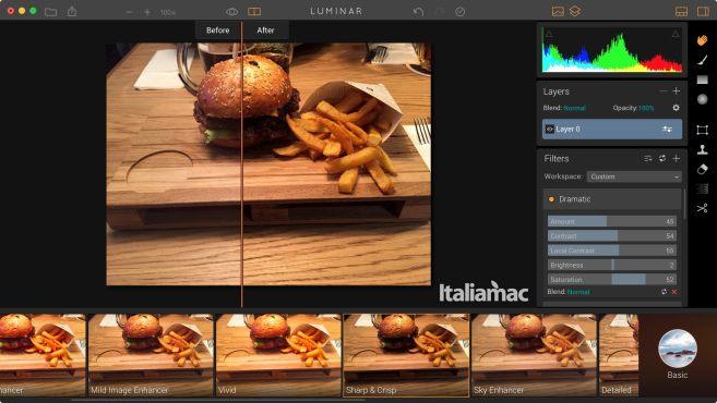 luminar interfaccia Luminar: Il futuro del foto editing su Mac è qui