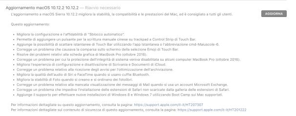 schermata 2016 12 13 alle 20.15.47 Apple rilascia macOS Sierra 10.12.2