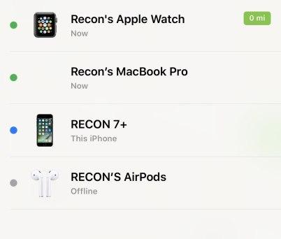 find my airpods find my iphone app screenshot Apple rilascia iOS 10.3 Beta 1 ed introduce Find My AirPods