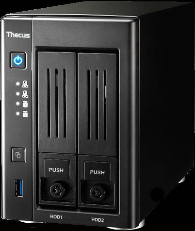 n2810 fronte Thecus N2810: il NAS ideale per casa e ufficio